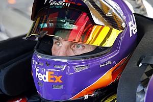 NASCAR Cup Practice report Hamlin tops Friday Cup practice, teammate Suarez crashes