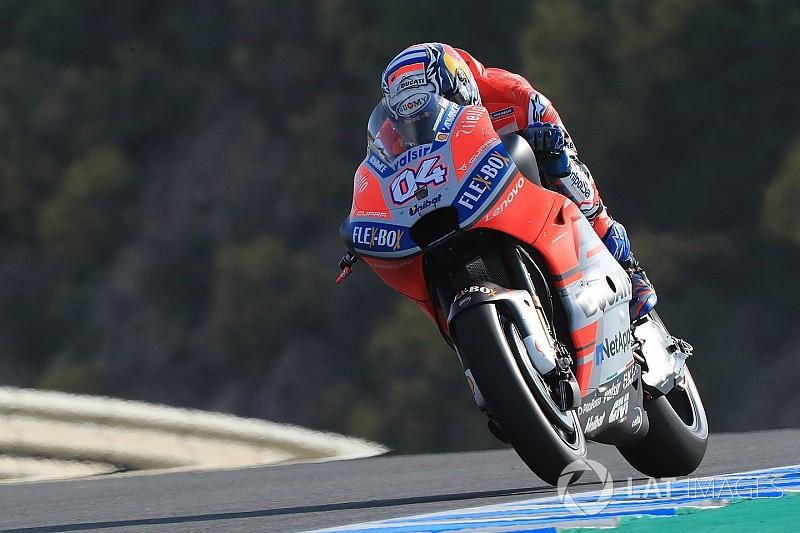 Jerez MotoGP: Dovizioso beats Marquez by 0.007s in FP1