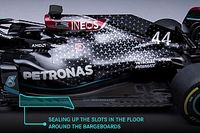 Mercedes hiding floor design for W12 F1 car