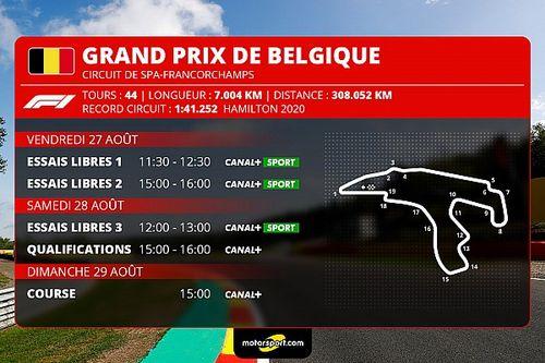 GP de Belgique F1 - Programme TV et guide d'avant-course