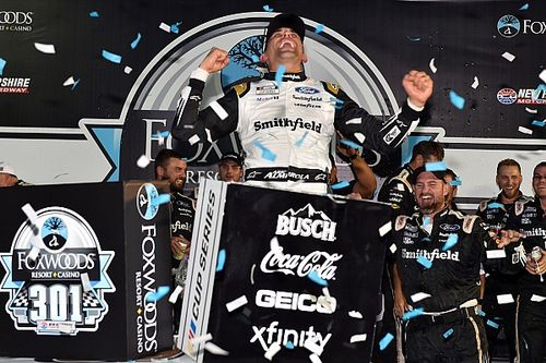 Almirola scores upset NASCAR Cup win in chaotic New Hampshire race