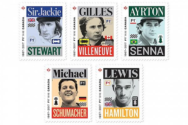 Canada Post, beş Formula 1 efsanesini onurlandırdı