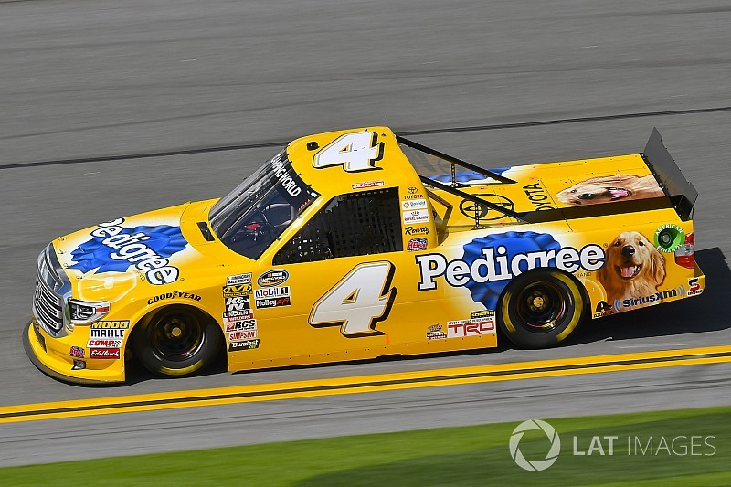 Kyle Busch Motorsports >> David Gilliland takes pole position for NASCAR Truck opener at Daytona
