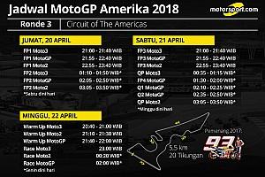 Jadwal lengkap MotoGP Amerika 2018