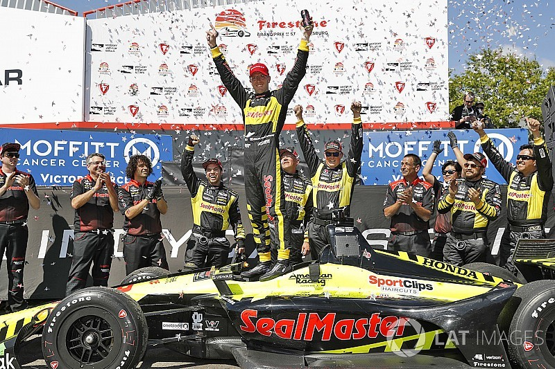 St. Pete IndyCar: Bourdais steals win after Wickens and Rossi clash