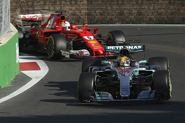 Formel 1 Hamilton dank Kart-Lektion in Baku nicht auf Vettel losgegangen