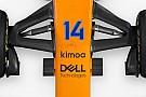 Alonso ruhamárkájával vannak tele a McLaren szponzorfelületei