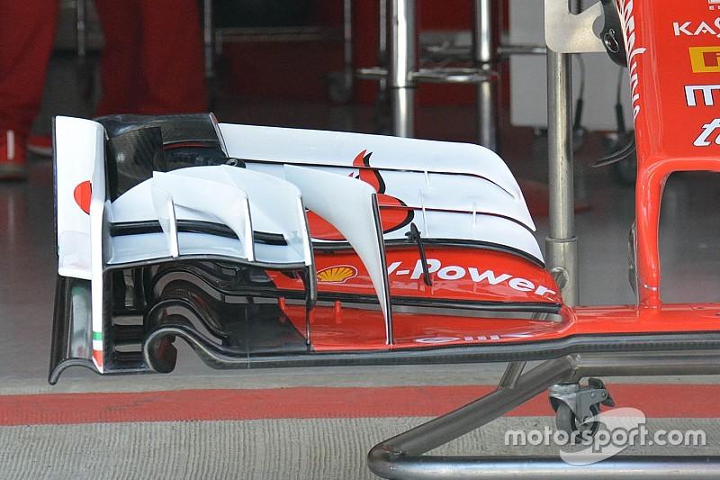 Ferrari revela el nuevo alerón delantero