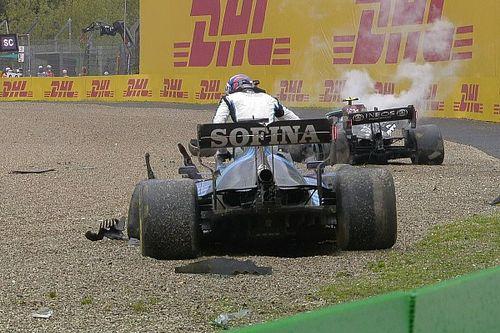 Russell y Bottas provocan la bandera roja en el GP de Emilia Romagna