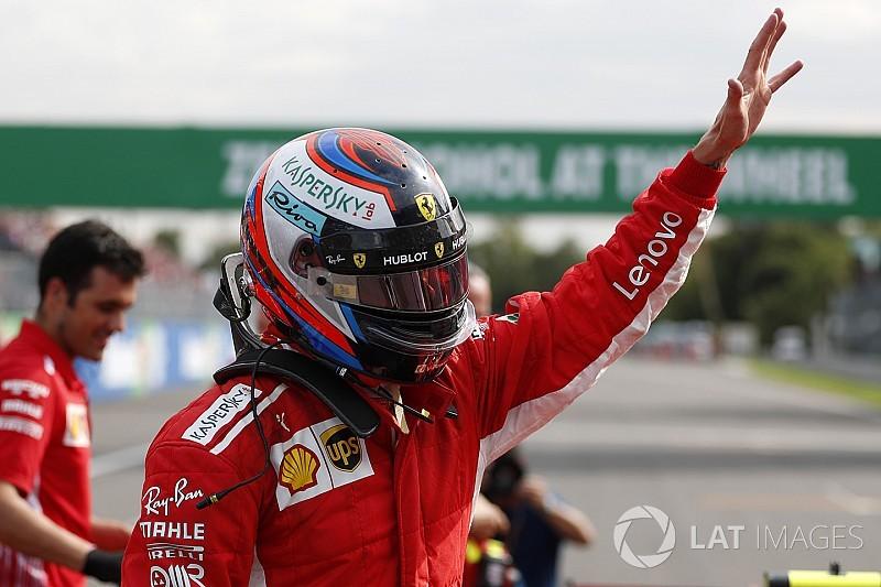 Raikkonen les ganó la pole a Vettel y a Hamilton en Monza