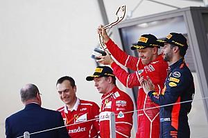 La cara de Raikkonen en el podio lo dijo todo
