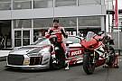 GT Carlos Checa corre nell'Audi R8 LMS Cup al Nurburgring