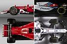 Williams FW41'i Haas VF-18 ve Ferrari SF70 H ile kıyaslıyoruz