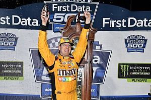 NASCAR Cup Race report Chaos ensues in closing laps at Martinsville, Kyle Busch takes win