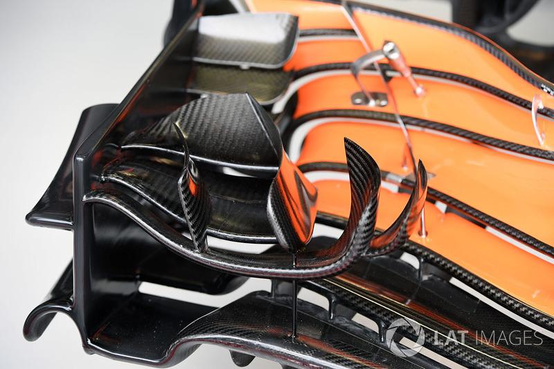 Детали переднего крыла McLaren MCL32