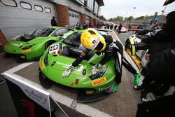 I vincitore della gara Christian Engelhart, Mirko Bortolotti, GRT Grasser Racing Team