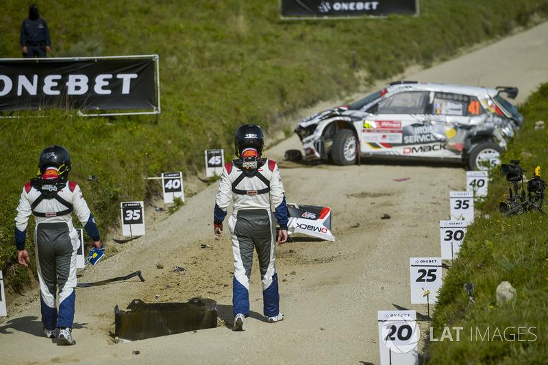 Quentin Gilbert, Renaud Jamoul, Skoda Fabia R5 crash