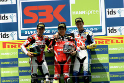 Podium: Race winner Noriyuki Haga, Yamaha; second place Troy Bayliss, Ducati; third place Max Neukirchner, Suzuki