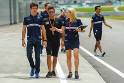 Charles Leclerc, Sauber und Ruth Buscombe, Sauber F1