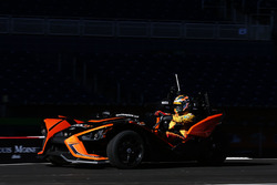 Ryan Hunter-Reay driving the Polaris Slingshot SLR