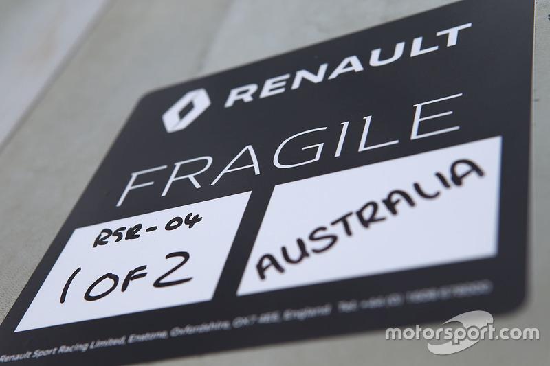 Etiqueta frágiles Renault