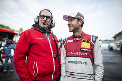 Laurent Fedacou and Mike Rockenfeller, Audi Sport Team Phoenix, Audi RS 5 DTM