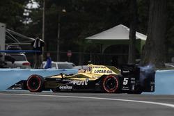 James Hinchcliffe, Schmidt Peterson Motorsports Honda retires
