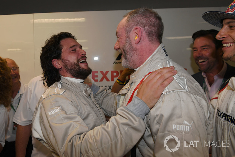 F1 Experiences 2-Seater passenger Kit Harington, Actor F1 Experiences 2-Seater passenger Liam Cunningham, Actor