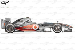 McLaren MP4-24 2009 launch side view