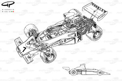 McLaren M23 1973 detailed overview and side view
