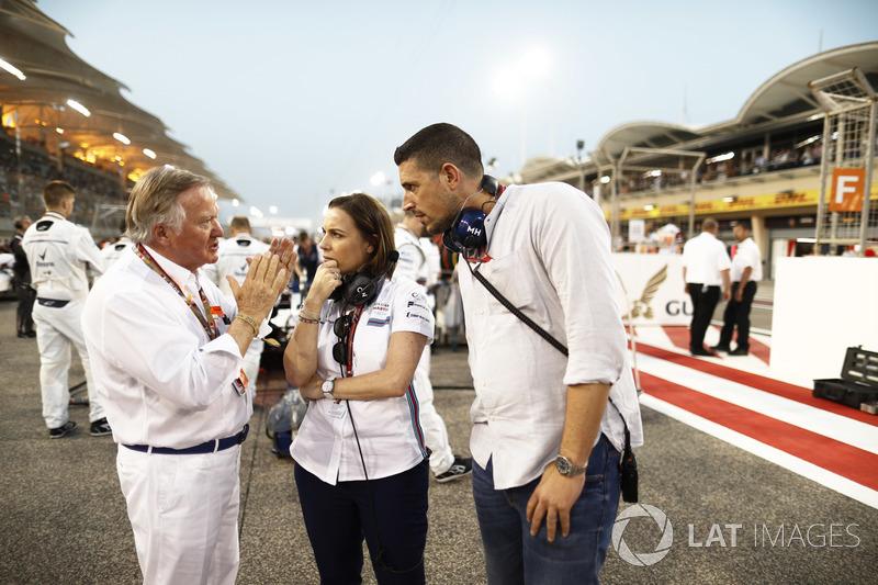 Claire Williams, Deputy Team Principal, Williams Martini Racing, on the grid