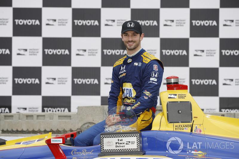 Alexander Rossi, Andretti Autosport Honda, sur le podium