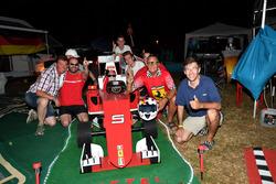 Tifosi di Sebastian Vettel, Ferrari, in campeggio