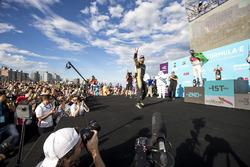 Jean-Eric Vergne, Techeetah, fête sa victoire sur le podium