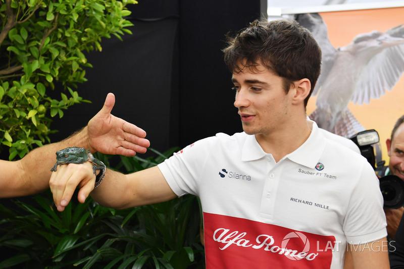 Charles Leclerc, Sauber con un rospo