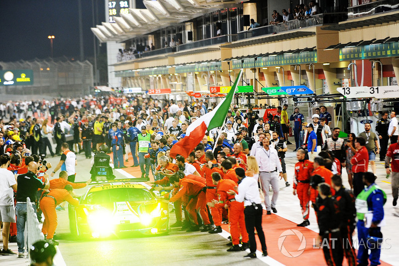 LMGTE Pro: segundo lugar #51 AF Corse Ferrari 488 GTE: James Calado, Alessandro Pier Guidi