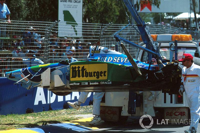 Benetton B194 Ford Міхаеля Шумахера після аварії