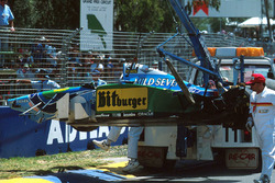 Michael Schumacher,Benetton B194 Ford after his crash