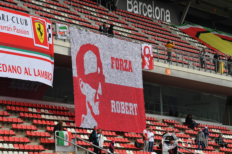 Robert Kubica, Williams fans and banners