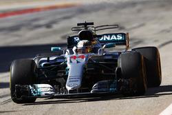 Lewis Hamilton, Mercedes AMG F1 W08, celebrates as he wins the race