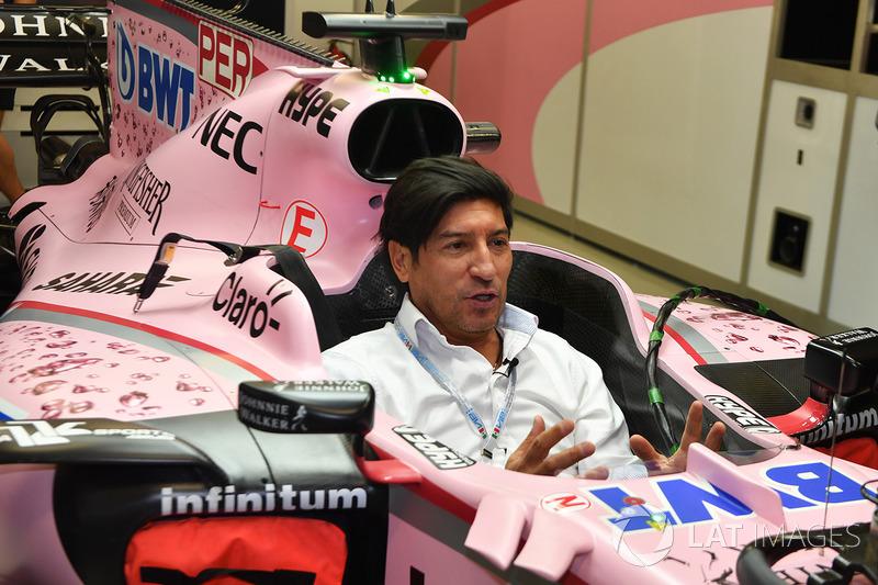 Ivan Zamorano exfutbolista en el Sahara Force India VJM10