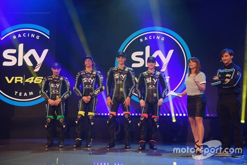 Atmosfer peluncuran Sky Racing Team VR46