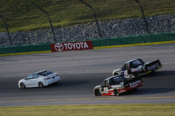 Toyota Camry Pace Car leads Noah Gragson, Kyle Busch Motorsports, Toyota Tundra Safelite AutoGlass and Todd Gilliland, Kyle Busch Motorsports, Toyota Tundra Mobil 1