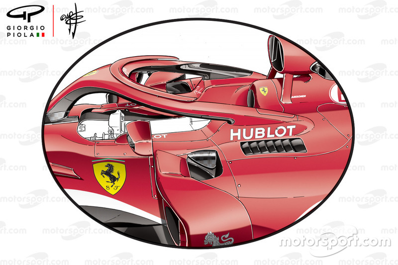 Ferrari SF71H side pods, Australian GP