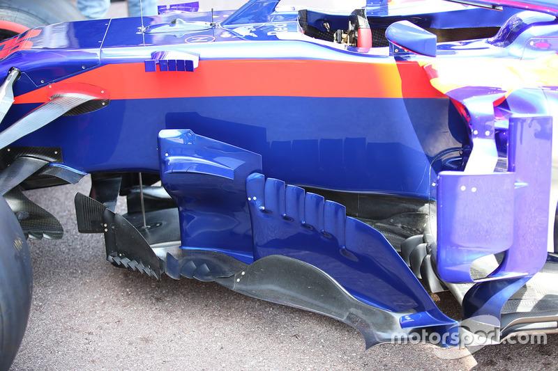 Les pontons de la Scuderia Toro Rosso STR13