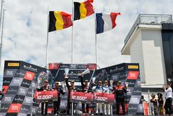 Podium: Race winner #1 Belgian Audi Club Team WRT Audi R8 LMS: Alex Riberas, Christopher Mies, second place #2 Belgian Audi Club Team WRT Audi R8 LMS: Will Stevens, Dries Vanthoor, third place #25 Sainteloc Racing Audi R8 LMS: Simon Gachet, Christopher Haase