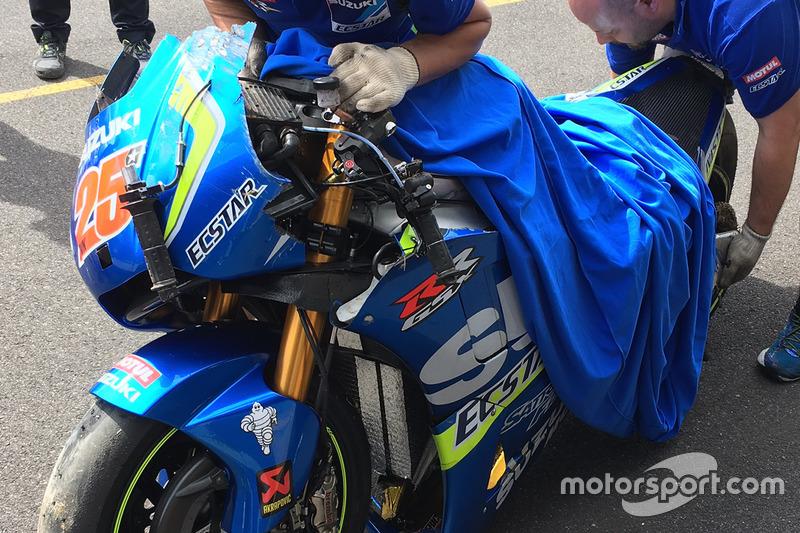 La moto de Maverick Viñales, Team Suzuki MotoGP