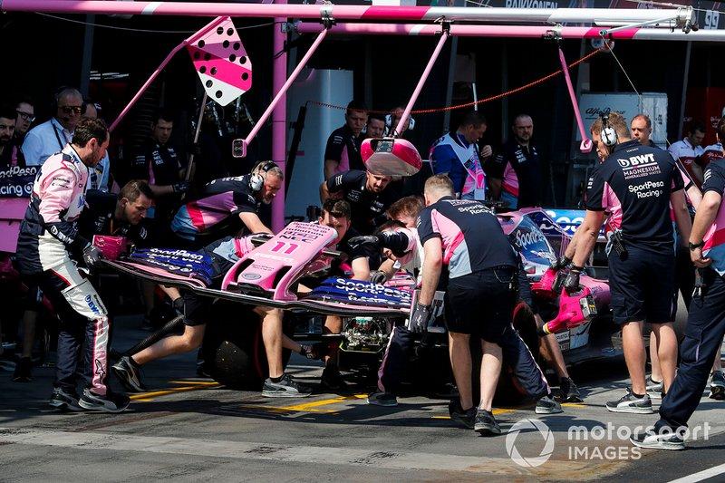 Changement d'aileron avant pour Sergio Perez, Racing Point RP19