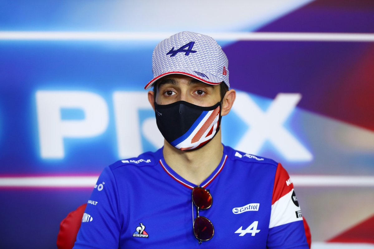 Esteban Ocon, Alpine F1, in the press conference