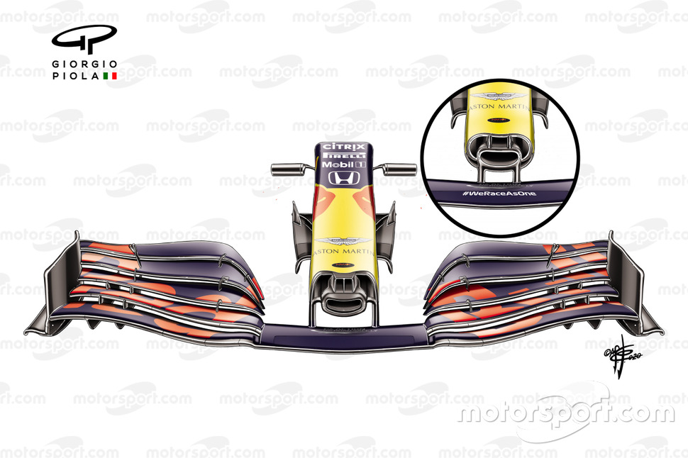 Red Bull Racing RB16 ön kanat, Avusturya GP